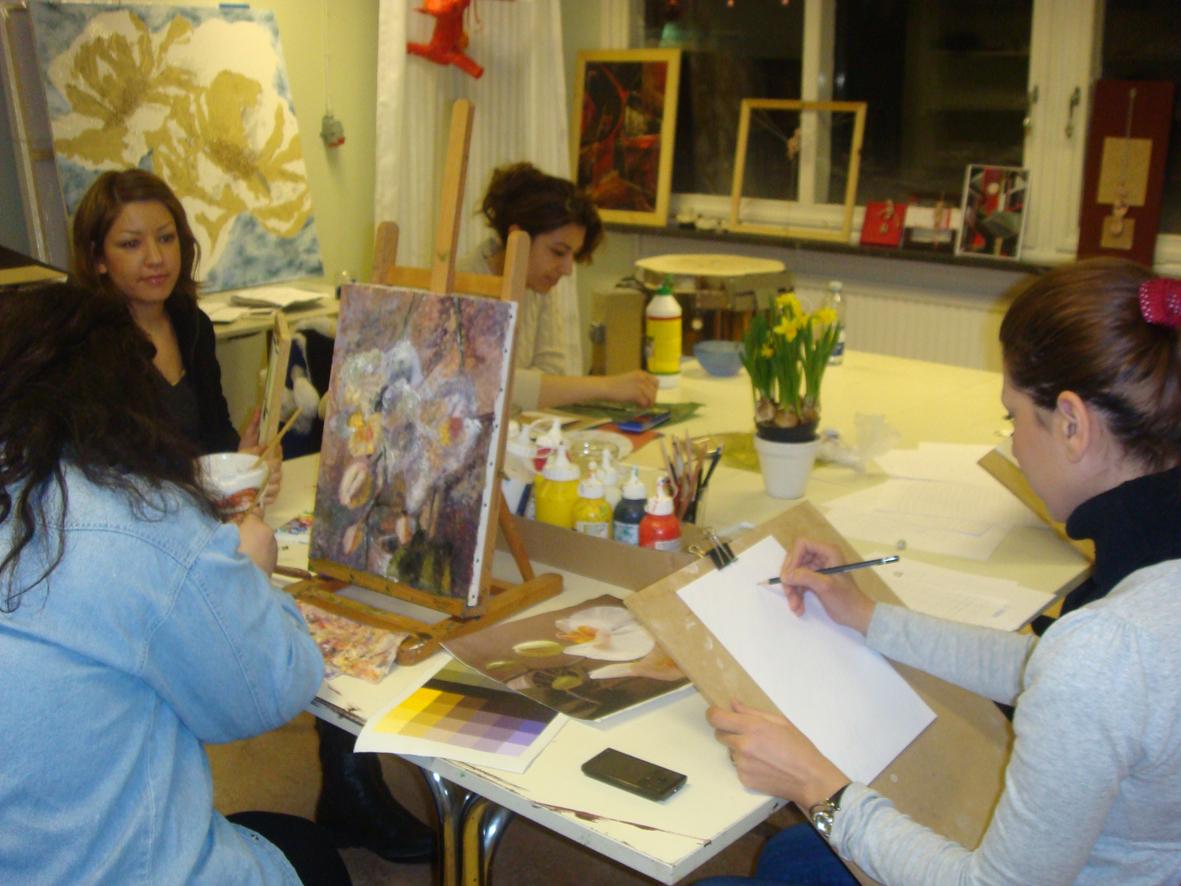 konstnärer tecknar